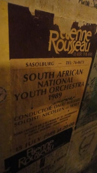 Poster - South African National Youth Orchestra - 1989