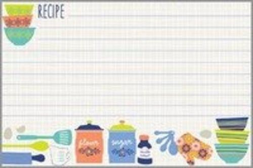 Pass along your favorite recipes using Gina B. Designs Kitchen Recipe Cards. The cards have colorful kitchen items pictured on the bottom of the page, that will make you want to get cooking. Looking f