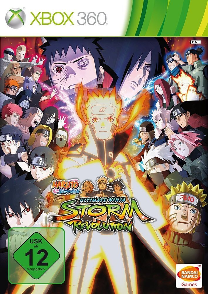 Xbox 360 Naruto Shippuden Ultimate Ninja Storm Revolution Ger En Ger Boxed Naruto Shippuden Batalha Ninja Xbox 360
