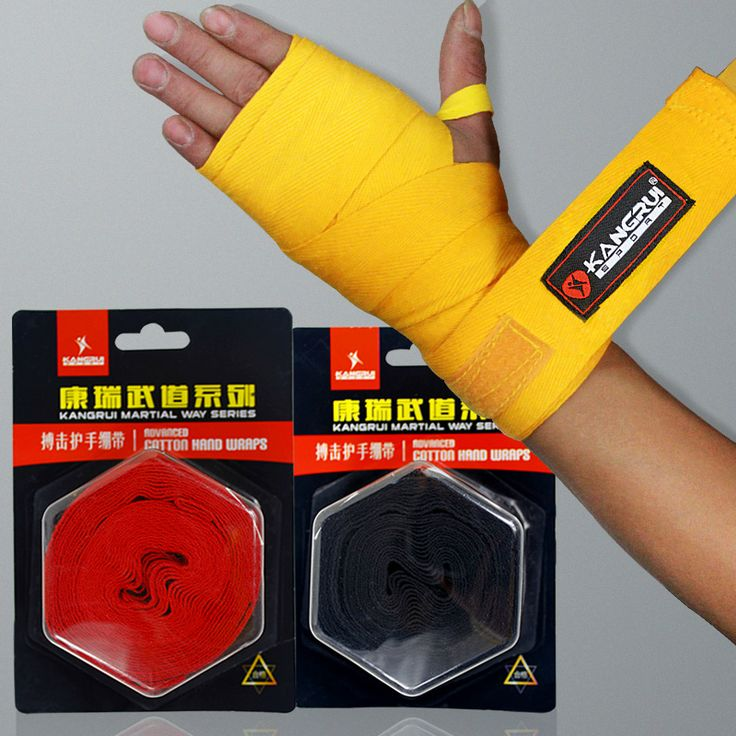 High quality professional kick boxing hand wraps 2.5 meters durable cotton 100% MMA hands protector Muay Thai wrap