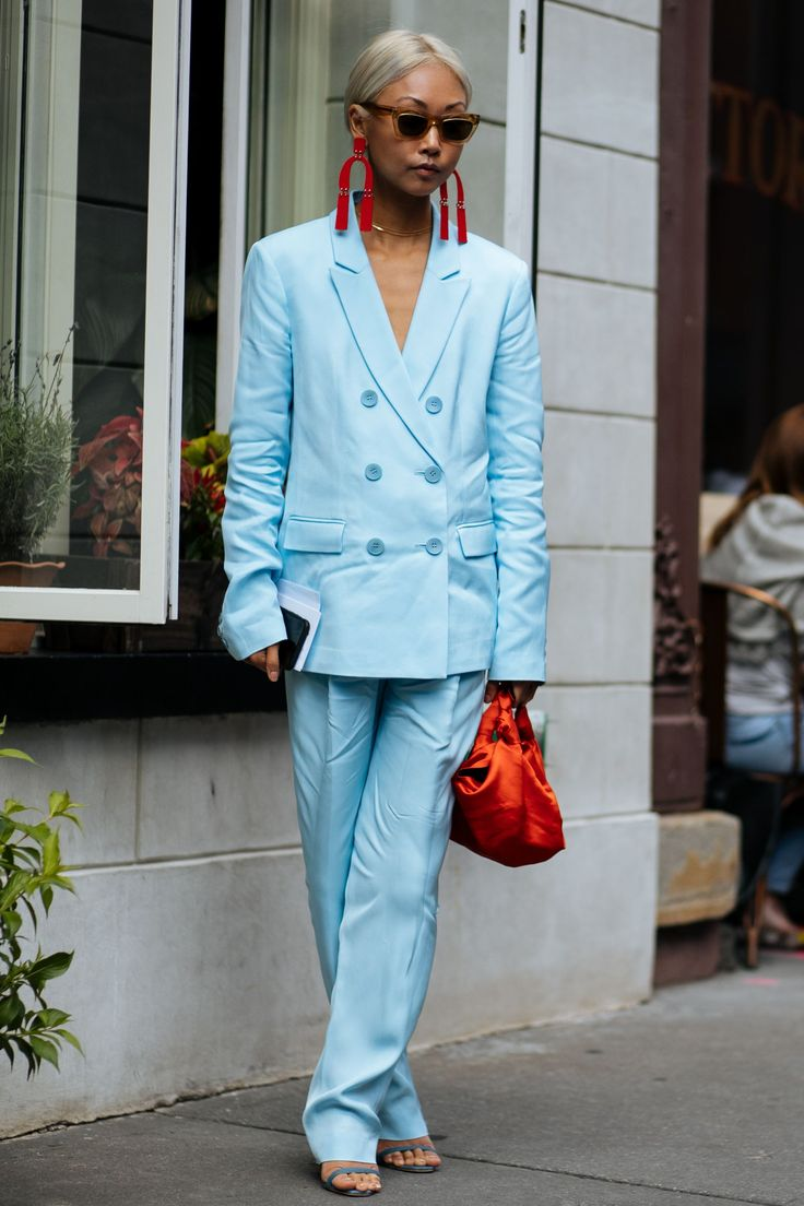 It 39 S Baaaaack All The New York Fashion Week Street Style You Need Tailleur Pantalon Femme
