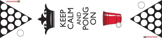 Keep Calm and Pong On   Pro Table $119.95  Beer Pong Table  http://megabeerpong.com/bjs-beer-pong