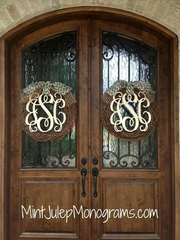 best 25 monogram wreath ideas on pinterest letter door wreaths wreaths for front door and. Black Bedroom Furniture Sets. Home Design Ideas