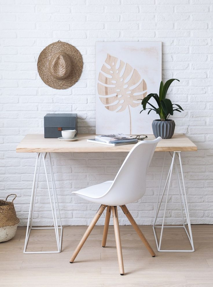 Clean Modern Desk Light Neutral Tones