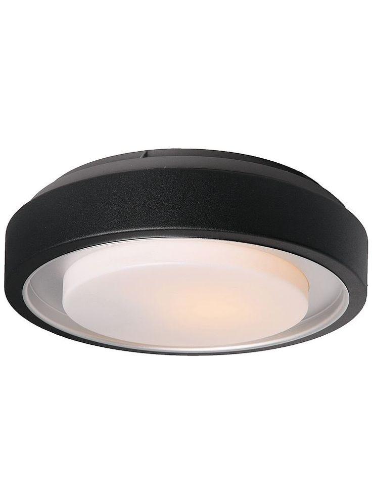 Svart utomhuslampa - Lampekonsulenten Origo taklampa & vägglampa