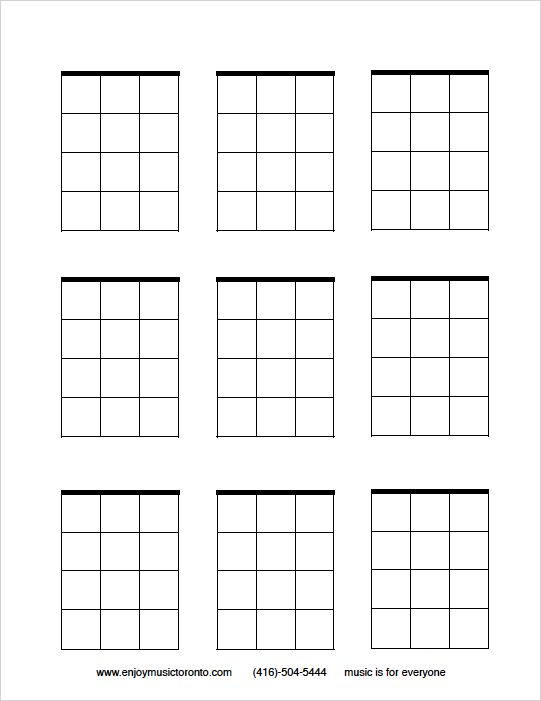 tifem ukulele blank chord blocks  music lessons  the