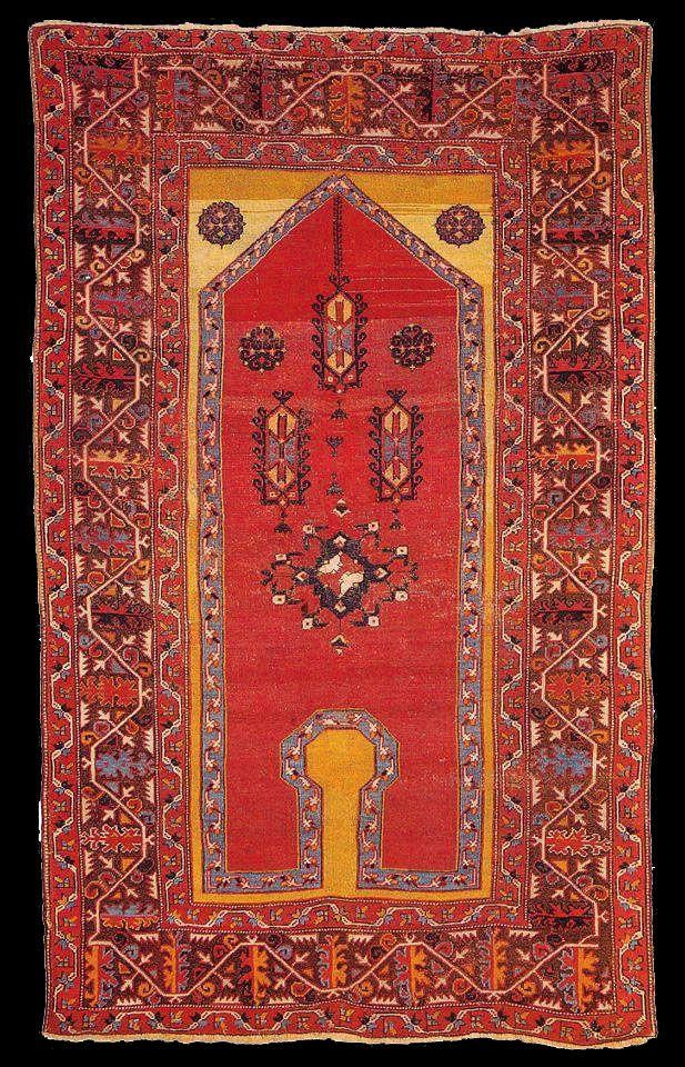 OTTOMAN CARPETS IN THE XVI - XVII CENTURIES (16-17TH CENTURIES)  Early Ottoman Turkish prayer rug, 16th century