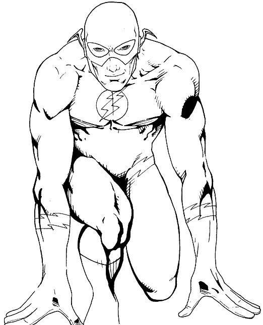 Barry Allen is flash | Coloring Pages | Pinterest