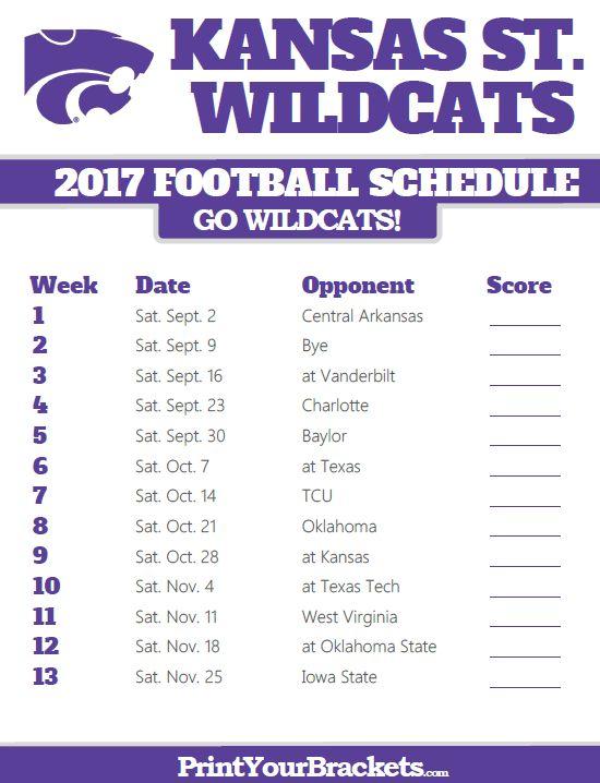 2017 Kansas State Wildcats Football Schedule