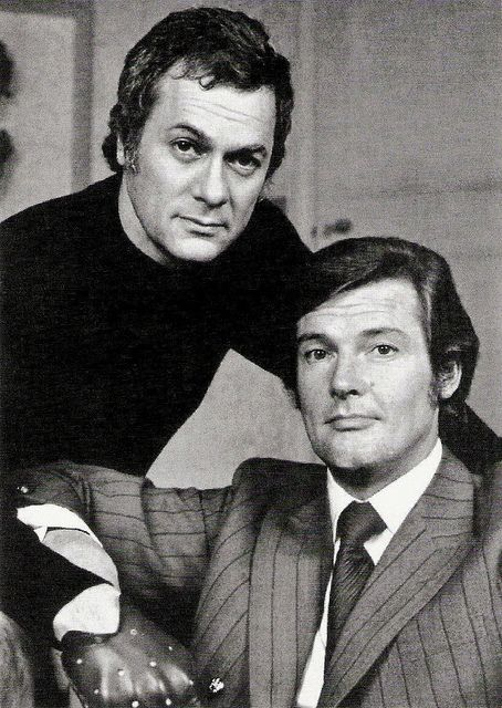 The Persuaders, Roger Moore, Tony Curtis | Danish postcard b… | Flickr