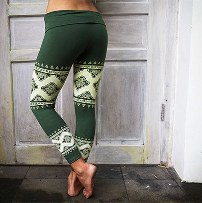 Women's Yoga Pants TEAL Cloud Lace Leggings by ShenCreations
