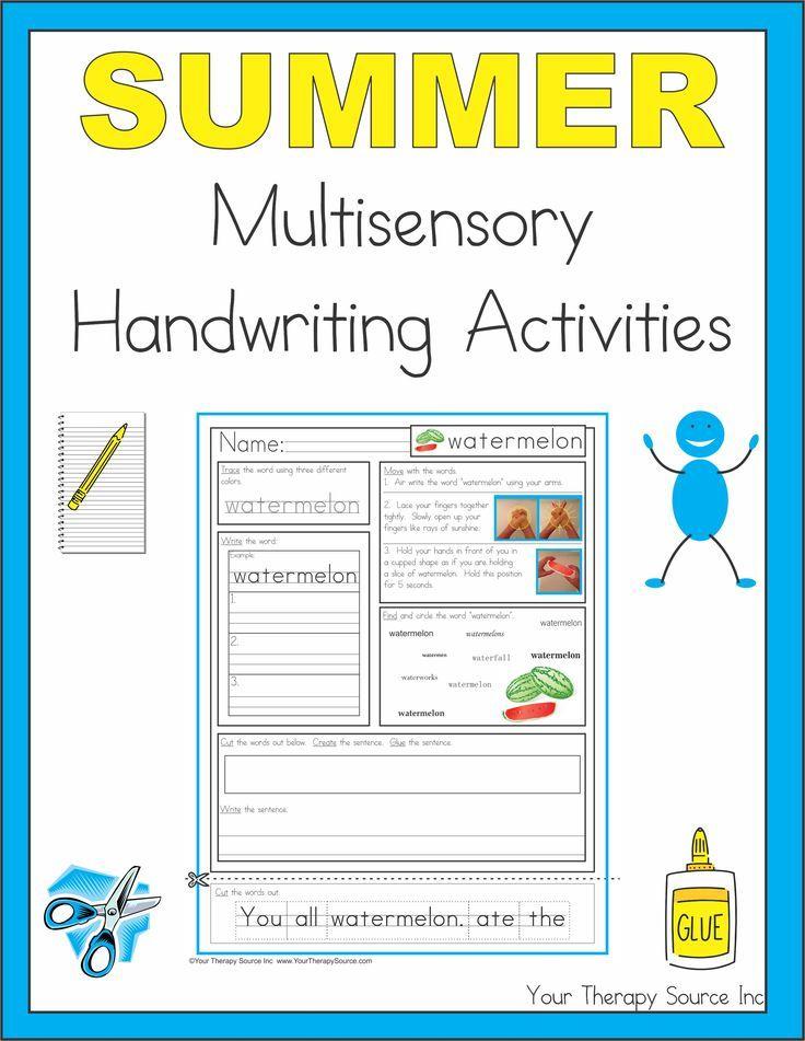 sensory language writing activities