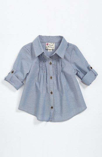 Little Pretties Chambray Tunic (Toddler Girls)   Nordstrom