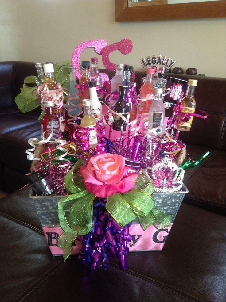 pin it happy 21st  birthday kamisha   Happy 21st Birthday Gift Basket for my daughter!