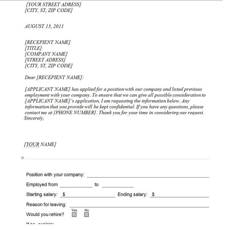 Verification Previous Employment Form Audit Templates Free Past Lancome  Beauty Advisor Cover Letter Template Regarding Request