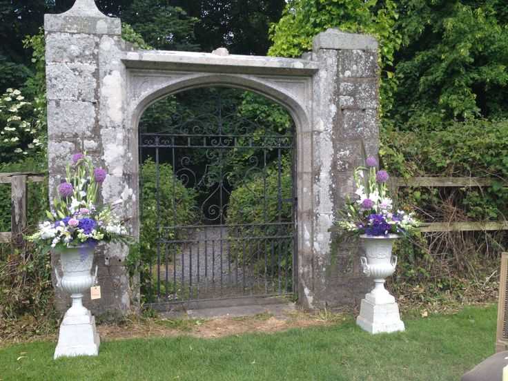 Urn Arrangements - Outdoor Civil Ceremony at Waterford castle