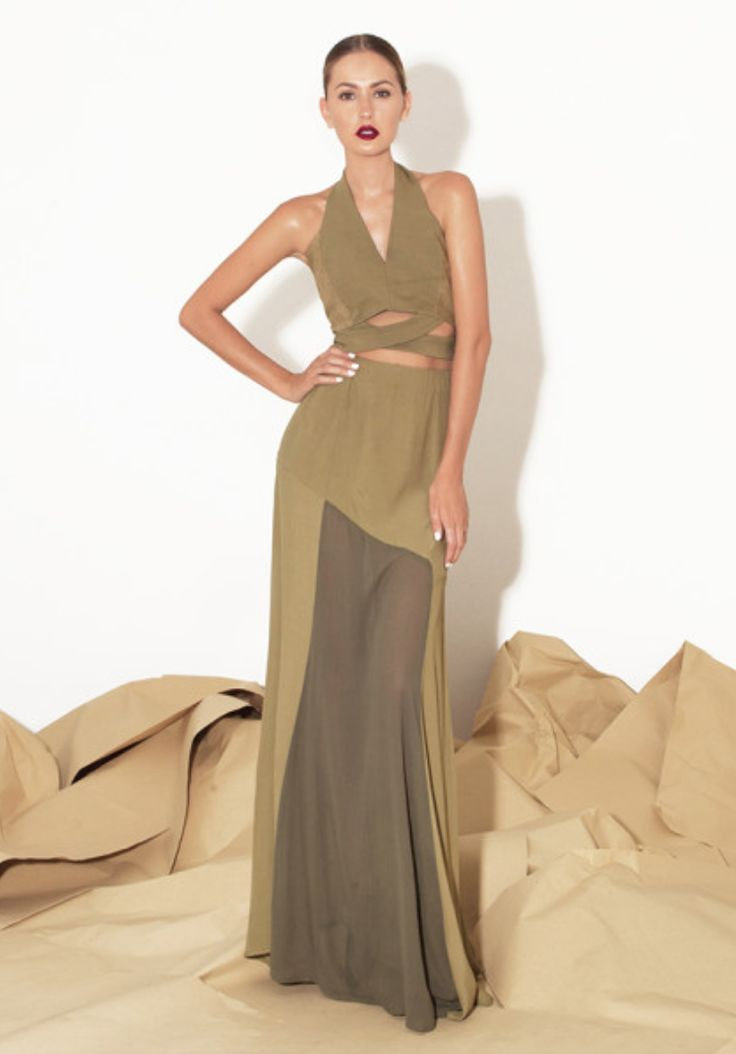 Single White Female - Rima Dress (Khaki)
