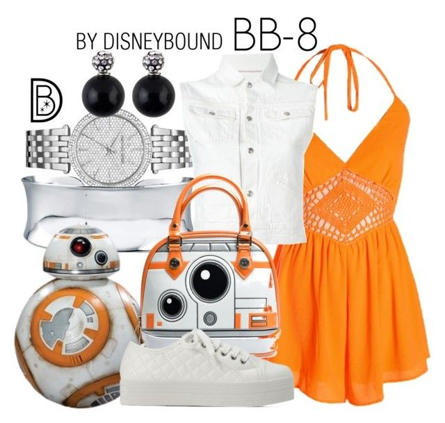 """""""BB-8"""" by leslieakay ❤ liked on Polyvore featuring Michael Kors, BERRICLE, R13, disney, disneybound and starwars"""