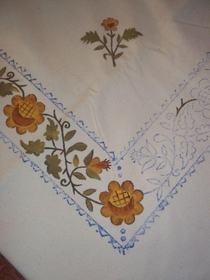 Mi casita encantada pintura en tela pintura tela - Manteles de tela ...