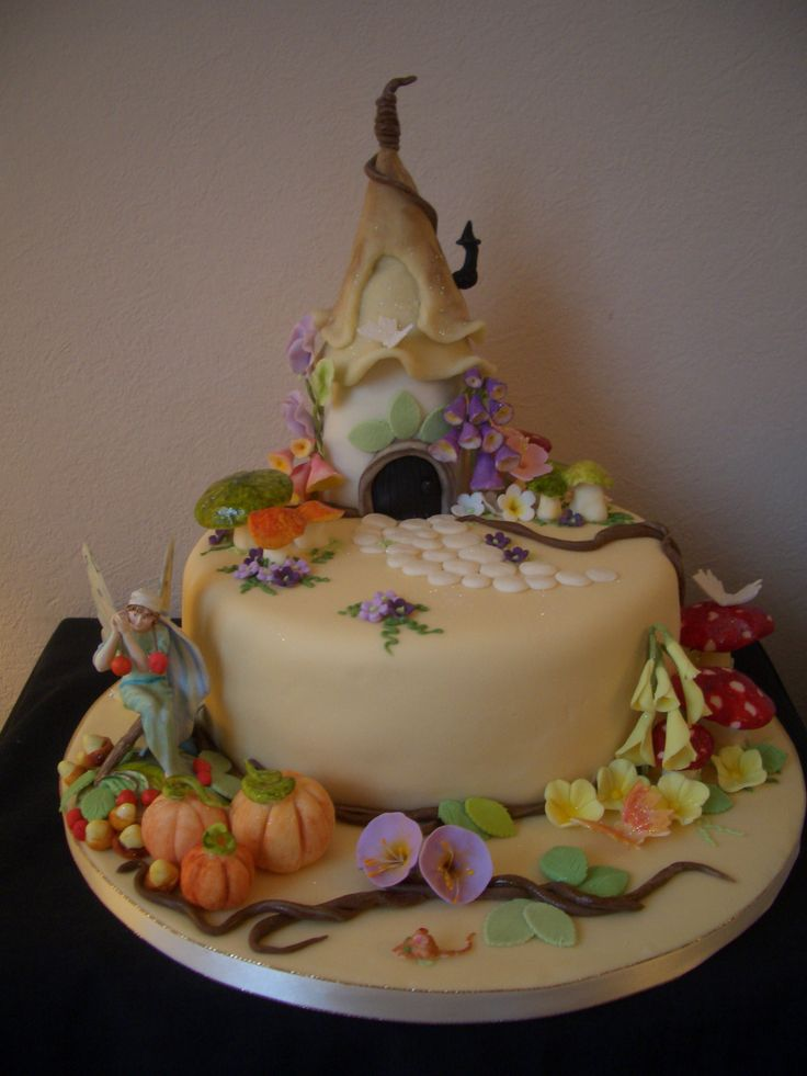 How To Make Tinkerbell House Cake