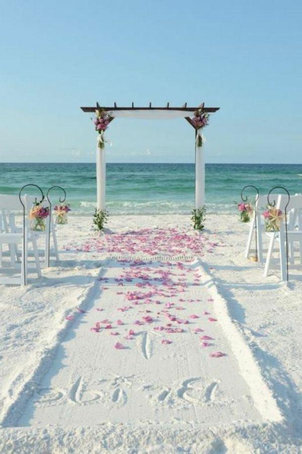 Hochzeit Am Strand Ein Romantischer Traum Archzine Net Hochzeit Am Strand Strandhochzeit Hochzeit