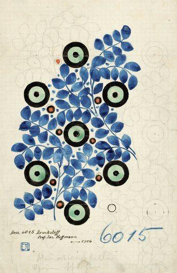 Josef Hofmann, Textile design 6015, 1906