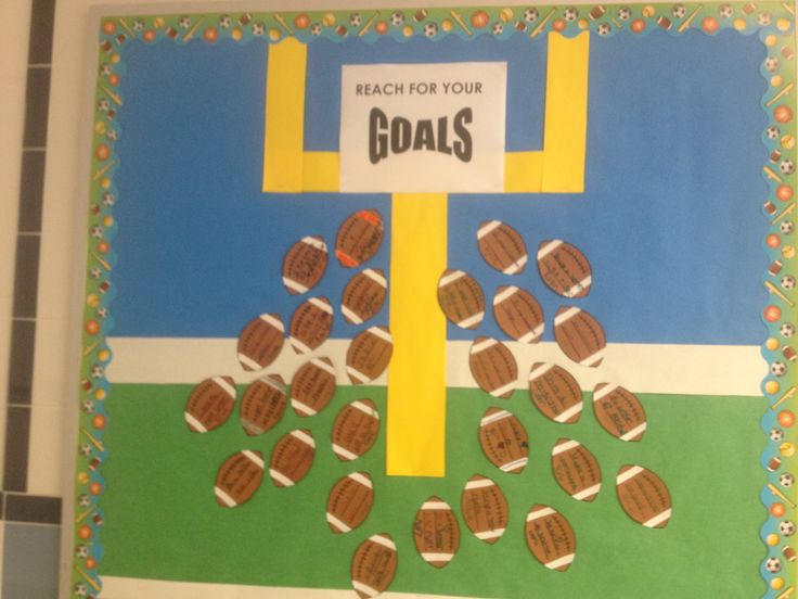 Classroom Goal Setting Ideas ~ Quot reaching our goals bulletin board each student writes