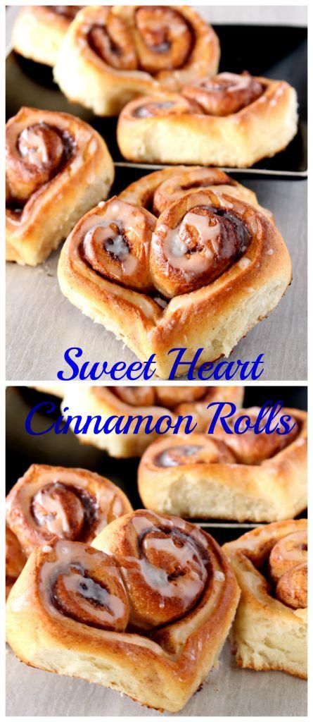 Heart Shaped Cinnamon Rolls – Sweet Heart Cinnamon Rolls – Egg Less Cinnamon Rolls