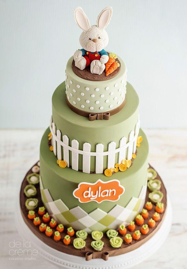 Peter Rabbit Birthday Cake Cakes For Cake Snobs Pinterest