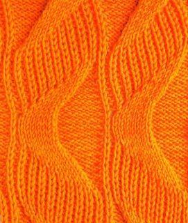 Wavy ribbing stitch free knitting chart. More great patterns like this: