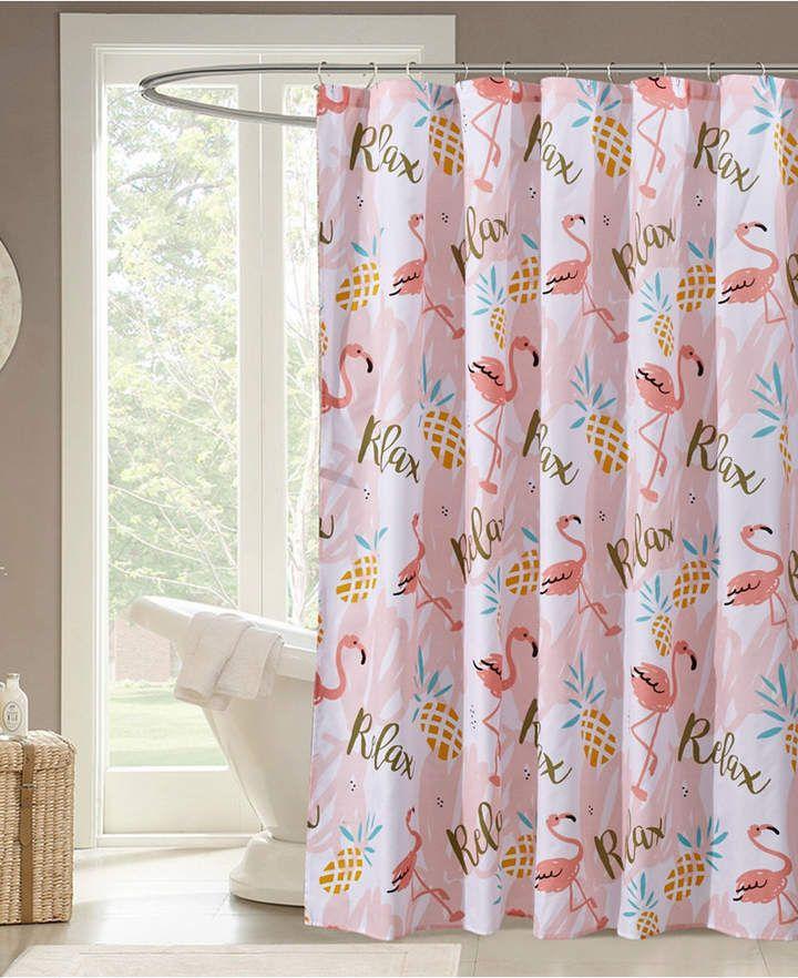 Flamingo Relax Shower Curtain Bedding Flamingo Shower Curtain