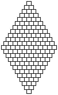 Point de brique de base du  diamant