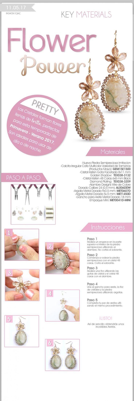** DIY Beaded Flower Earrings Jewelry @elgaleon
