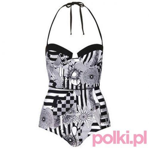 Strój kąpielowy z nadrukiem Topshop #polkipl