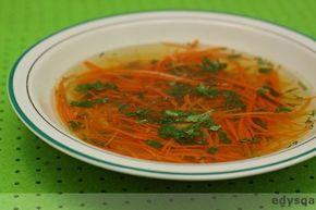 Rosół warzywny na diecie dr Dąbrowskiej z marchewkowym makaronem