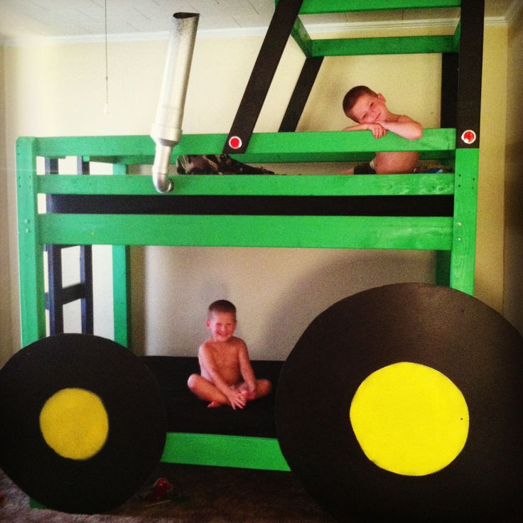 John Deere Bunk Bed Diy : John deere bunk bed we made beds pinterest