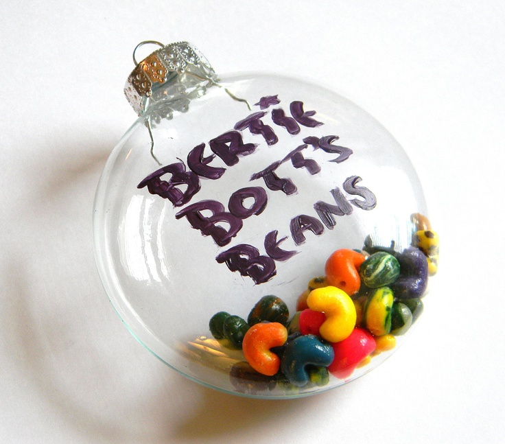 Bertie Bott's Every Flavor Bean Christmas Tree Ornament  - Harry Potter - Handmade - Polymer Clay - Gifts under 30, 50, 100. $30.00, via Etsy.