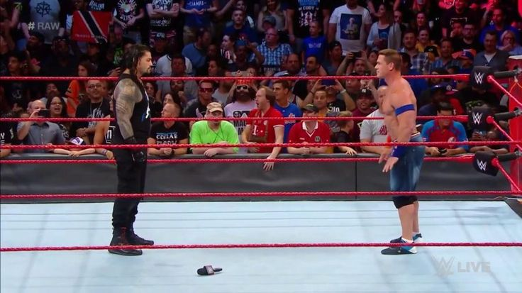 John Cena returns to Raw for a confrontation with Roman Reigns