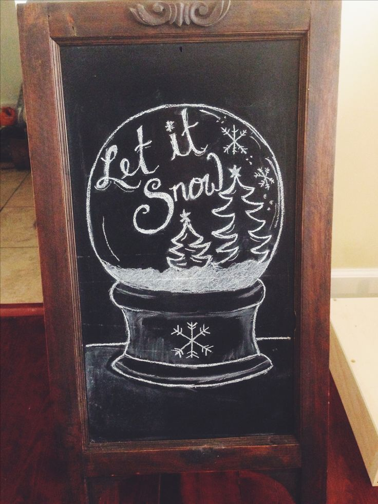 Chalkboard for the Wilsons! #Christmas #chalkboard #DIY