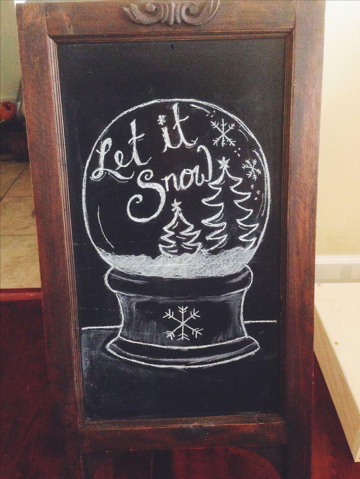 Chalkboard for the Wilson's! #Christmas #chalkboard #DIY