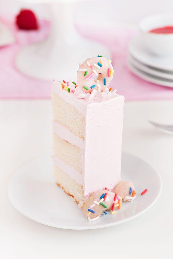 Strawberry Buttermilk Doughnut Cake | Sprinkles for Breakfast