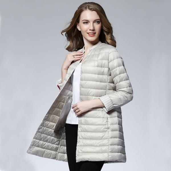 4d6f0c6d661 Woman Spring Padded Warm Coat Ultra Light Duck Down Jacket Long Female  Overcoat Slim Solid Jackets