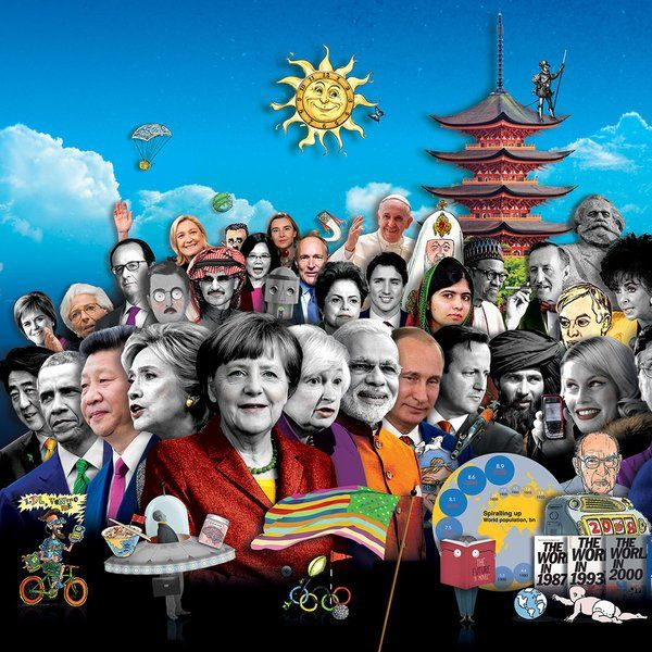 """Cover Art Prophecy Suggests Huge 2016 Predictions: Rothschild-Owned Magazine -- The Economist -- Says it All   Alternative   THE ECONOMIST MAGAZINE 2016 FRONT COVER ~ """"The preceding picture is a partial version of the original artwork by Matt Herring that was commissioned by the The Economist Magazine.  Just like the 2015 cover of The Economist, their 2016 cover is also fraught with cryptic meaning and cabalistic symbolism."""" """"What does it mean?"""""""