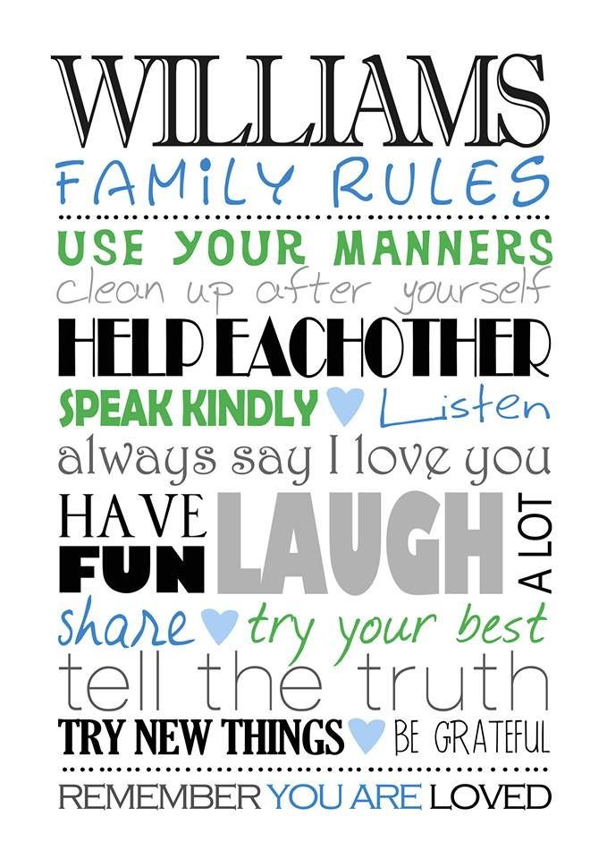 Family Rules Image http://www.melodyartdesigns.com/