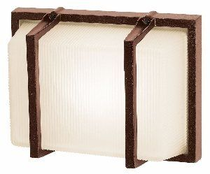 """Access Lighting 20335-BRZ Neptune Bars1-Light Wet Location Wall Fixture, Bronze with Ribbed Frosted Glass by Access Lighting. $50.53. Width: 10.5""""  Projection from wall: 4.75""""  Height: 8.25"""". Uses one 75w A19 Med F incandescent light bulb. Safety certification: UL (Underwriter's Laboratory) listed. Power supply required: 120 volts. Rated for exterior wet installation. From the Manufacturer                Glass: Ribbed Frosted, Finish: Bronze, Light Bulb: (1)75w A19 Med F Inc..."""