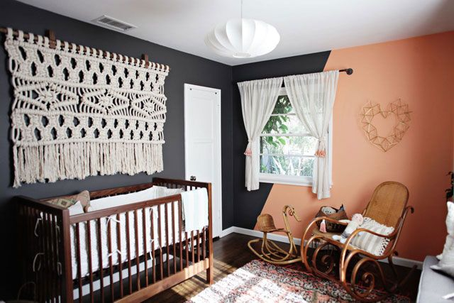 Beautiful Eclectic nursery from the lady genius's at Bash Please Interiors
