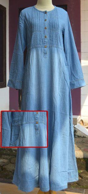 Want this now....denim abaya dress.. (Gamis jeans, GK263   Baju Muslim Gaya)