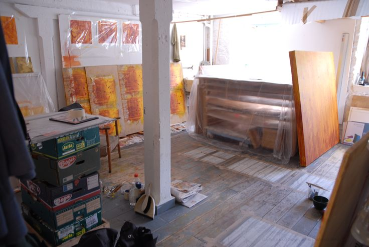 My Studio at Backwater Artists Group, Cork, Ireland