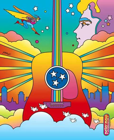 colors inspired by Peter Max, possible label ideas