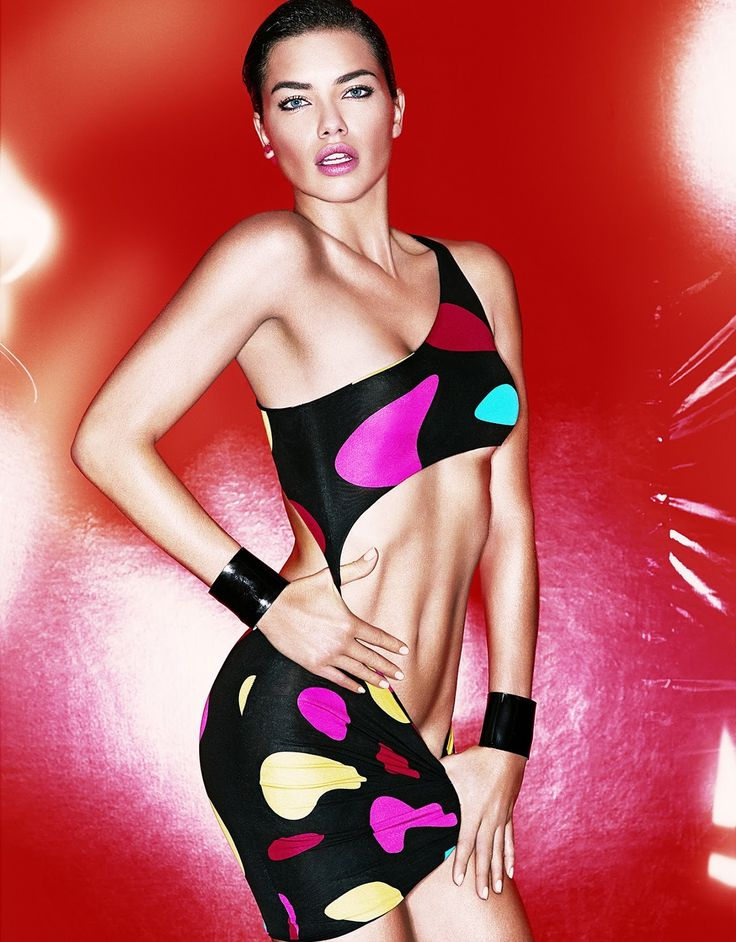 Adriana Lima by Tom Munro for Vogue Japan March 2014.